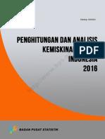 Penghitungan Dan Analisis Kemiskinan Makro Indonesia Tahun 2016
