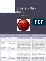 Health & Safety Risk Assessment