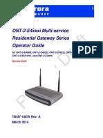 87-10878 ONT-2-E4xxxi Series Operator Guide 3-31-14
