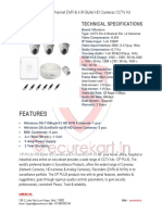 CP Plus Bullet HD Cameras CCTV Kit with 4 Channels DVR -Securekart