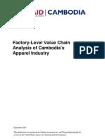 Cambodia Value Chain Garment Industry 2008