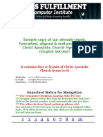Christ Apostolic Church Hymn Book English Version Sample
