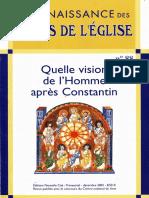 (Connaissance Des Pères de l'Eglise 88) Marie Anne Vannier-Quelle Vision de l'Homme Après Constantin