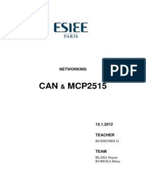 mcp2515-avr-can-spi pdf | Microcontroller | Computer Hardware