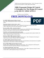 ISO 11064-12000 Ergonomic Design of Control Centres -- Part 1 Principles for the Design of Control Centres by ISO TC 159SC 4WG 8
