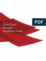 Zerto Cloud Manager Installation