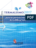 Folleto Termalismo 2017 Castilla y León