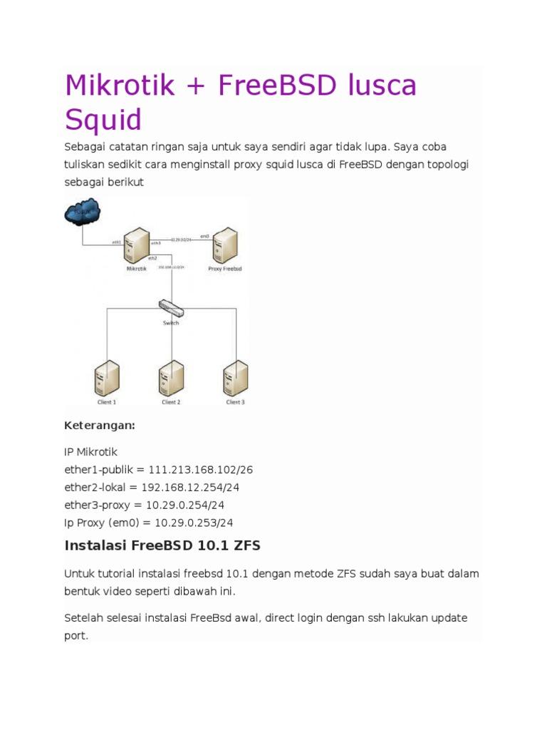 Mikrotik Squid Proxy