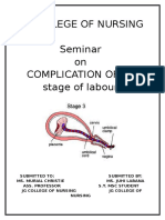 Seminar on Complication of 3rd Stage PPH