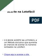 Ebook Lotofacil Gratis