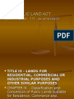 Commonwealth Act 141 Powerpoint Report