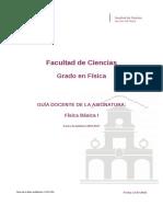 Guia Docente 279191201 - Fisica Basica i - Curso 1617