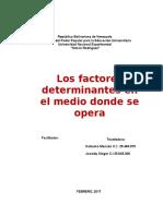 Los Factores Determinantes en El Medio Donde Opera