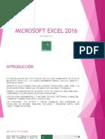 INTRODUCCION A MICROSOFT EXCEL 2016