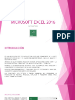 INTRODUCCION A MICROSOFT EXCEL 2016