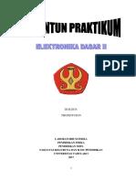 Penuntun Praktikum Elektronika Dasar 2