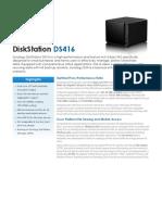 Synology DS416 Data Sheet Enu