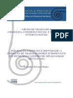 ARTIGO - Imigração, Conflito e Identidade - A Inserção de Trabalhadores Europeus Em Um Município Cafeeiro de Minas Gerais (Século XIX)