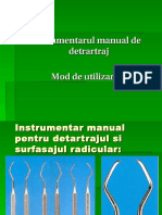 Detartrajul Manual