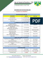 Calendário FKR 2017 - Atualizado Em 21-02-2017