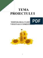 PROIECT TEHNOLOGIA ULEIURILOR VEGETALE COMESTIBILE printat.doc