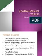 Kewirausahaan Teknik - 1 (2017)