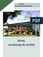 Eslarner Gemeinderatssitzungen - 07.2010