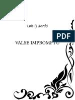 Valse Impromptu - Luis G. Jordá - Partitura Completa