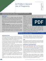 Evaluation Lipid Profile in Second Semester