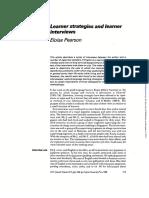 Pearson-(1998) Learner Strategies Interviews