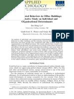 Hing Lo Et Al. (2012) - Energy-Related Behaviors in Office Buildings
