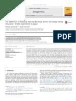 Mizobuchi & Takeuchi (2013) - The Influences of Financial Andnon-financial Factorsonenergy-saving Behavior