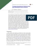Wang Et Al. (2014) - Determinants of Energy-saving Behavioral Intention Among