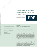 Wilson & Dowlatabadi (2007) - Models of Decision Making and Residential Energy Use