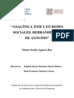 Analitica Web y en Redes Sociales. Herramientas de Analisis