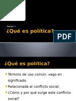 Qué Es Política