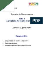 5.2 Sistema Monetario Internacional