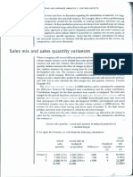 A Note on Sales and Sales Mix Variance