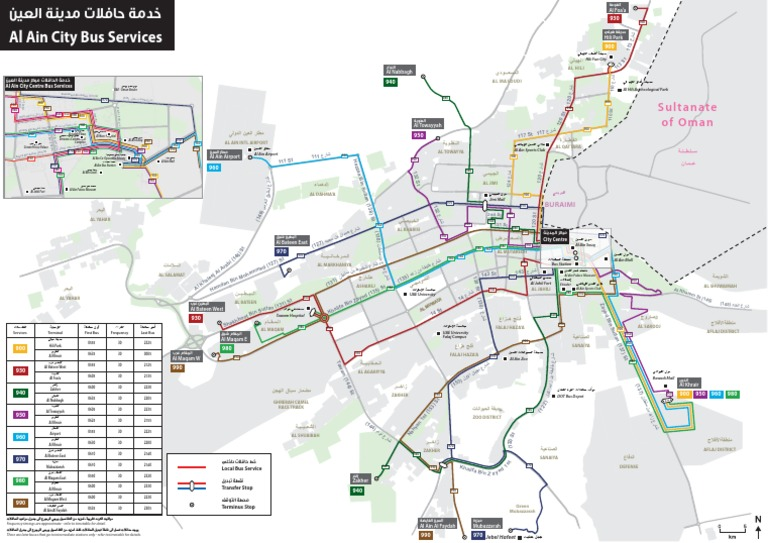 Al Ain City Bus Service Network Mappdf