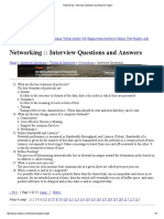 Networking - Interview Questions and Answers Page 3