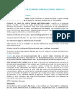 Cuestionario de Derecho Internacional Público.