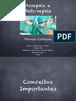Assepsia e Anti-sepsia - Técnica Cirúrgica