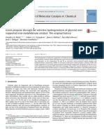 Green Propene Hydrogenoysis Glycerol Fe Mo-Mota-2016