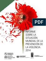 Informe Sobre La Situacion Mundial de La Prevencion de La Violencia 2014