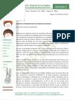 Pronuciamiento de ORPIAN sobre cancelación de visita CIDH a comunidades de Chiriaco
