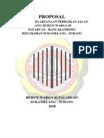 Contoh Proposal Perbaikan Jalan Gang Rw 02