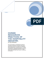 HUMAN RESOURCES PRACTICES OF THE HOSPITALITY INDUSTRY