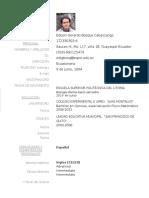 C.v. Edison Gerardo Bosque Cabascango - ESPAÑOL