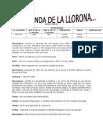 Guion Teatral Leyenda de La Llorona
