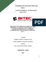 PROGRAMA DE LIDERAZGO GERENCIAL PARA MEJORAR LA COMUNICACIÓN INTERNA Y LA CALIDAD DE SERVICIO EN LA EMPRESA COORPORACIÓN TEXTIL ESPAIN & ESPINOZA S.A.C.